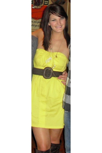 yellow dresses brown belts brown boots quot birthday suit