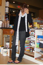 aa sweater - Vinatge top - Jcrew pants - envy shoes - aa scarf - The Buckle