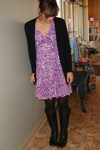 American Apparel sweater - banana republic dress - DKNY tights - born shoes - Be