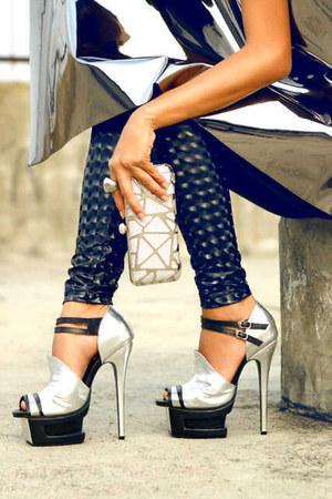 silver adeevashoes heels