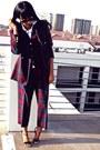 Crimson-giorgio-santangelo-blazer-ray-ban-sunglasses-old-navy-top