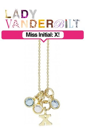 sky blue LADY VANDERBILT necklace