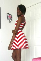 red striped cut out Wisope dress