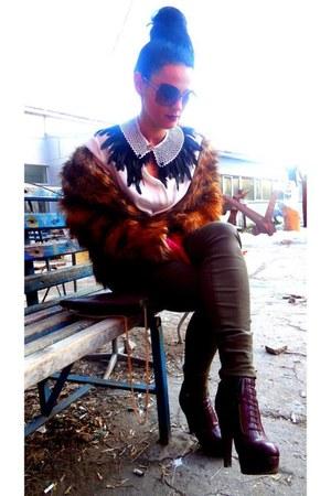 Zara boots - Mango pants