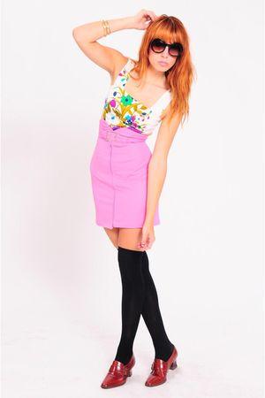 pink la vintage skirt