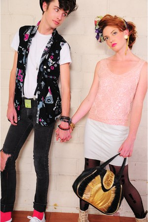 la vintage bag - la vintage top - la vintage skirt - la vintage shirt - la vinta