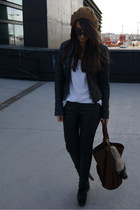 black Zara jacket - black Zara pants