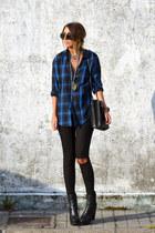 blue asos shirt