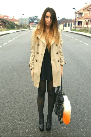 camel Zara coat - black Nellycom shoes - orange fox tail Dolls Kill accessories
