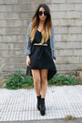 Black-unif-heels-gray-pixie-cardigan