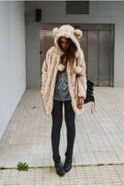 white asos coat - blue High Heels Suicide t-shirt