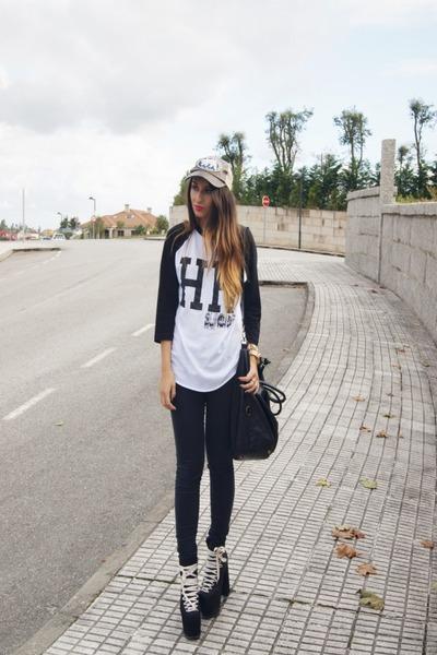 black UNIF shoes - black High Heels Suicide shirt