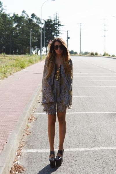 black River Island heels - nude For Love and Lemons dress