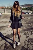 white Topshop shoes - black Zara skirt
