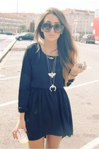 black romwe dress - heather gray fashionology accessories