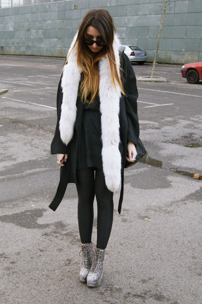 camel asoscom shoes - black Zara coat