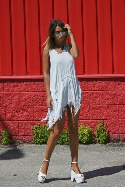 white stray dress UNIF dress