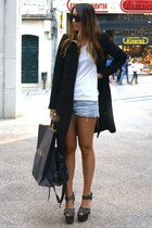 charcoal gray Topshop shoes - black Zara coat
