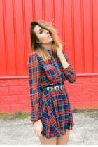crimson OASAP dress