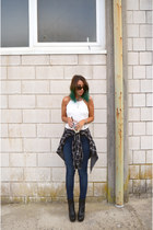 navy asos jeans