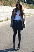 red High Heels Suicide t-shirt - black Zara skirt
