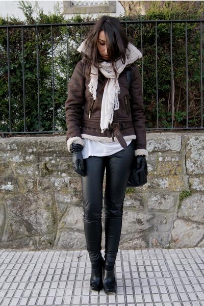 dark brown shearling Primark jacket