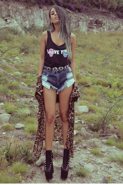 black High Heels Suicide top