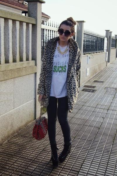 gold asos coat - light pink High Heels Suicide top
