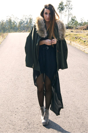 army green Zara coat