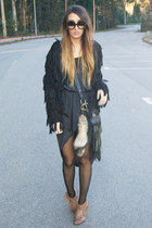 black fringed Pixie cardigan