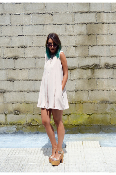 neutral Front Row Shop dress