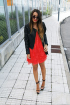 ruby red goldie dress - dark brown Jeffrey Campbell heels