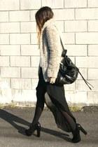 black Zara skirt - black Fox House shoes - camel New Yorker coat