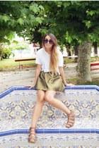 mustard metallic chicnova skirt