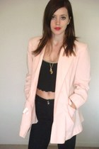 light pink princess blazer thrifted vintage blazer