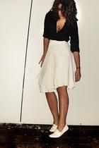 Zara blouse - Zara skirt - Glasses necklace - Zara shoes