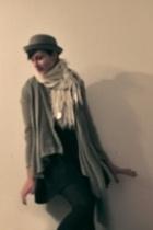 Bowler hat - Zara vest - skirt - Joy Division shirt - scarf