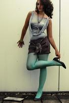 top - H&M pants - Topshop tights - shoes