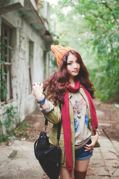 orange beanie hat