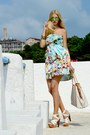 Light-blue-floral-print-zara-dress-white-leather-louis-vuitton-bag