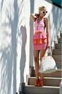 White-leather-louis-vuitton-bag-white-prada-sunglasses-bubble-gum-h-m-skirt