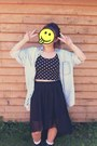 Oversized-denim-thrifted-jacket-polka-dot-crop-forever21-top