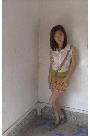 vintage bag - Zara top