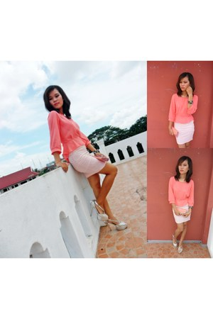 Zara top - Jenni heels - pinkaholic skirt