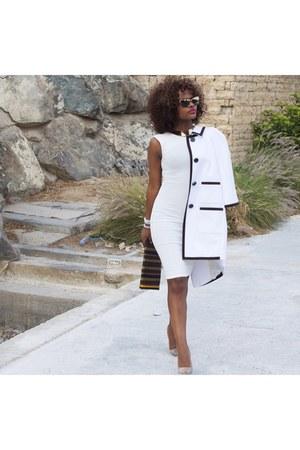 white River Island dress - white kate spade coat