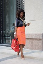 River Island skirt - Michael Kors bag - Michael Kors pumps