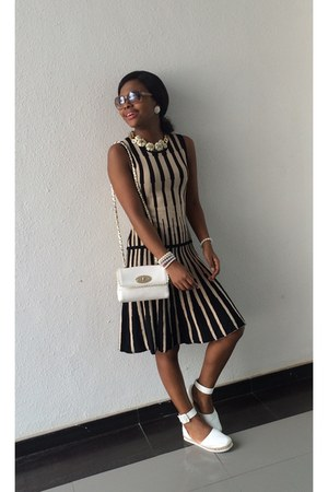 Eci New York dress - Forever New purse - Chloe glasses - River Island flats