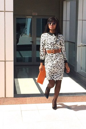 black and white kate spade dress - black Charles Jourdan Paris heels