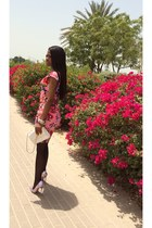 hot pink Lipsy dress - Forever New bag - Lesilla heels