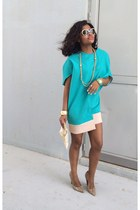 Lver dress - Donald J Pliner heels - vera wang glasses